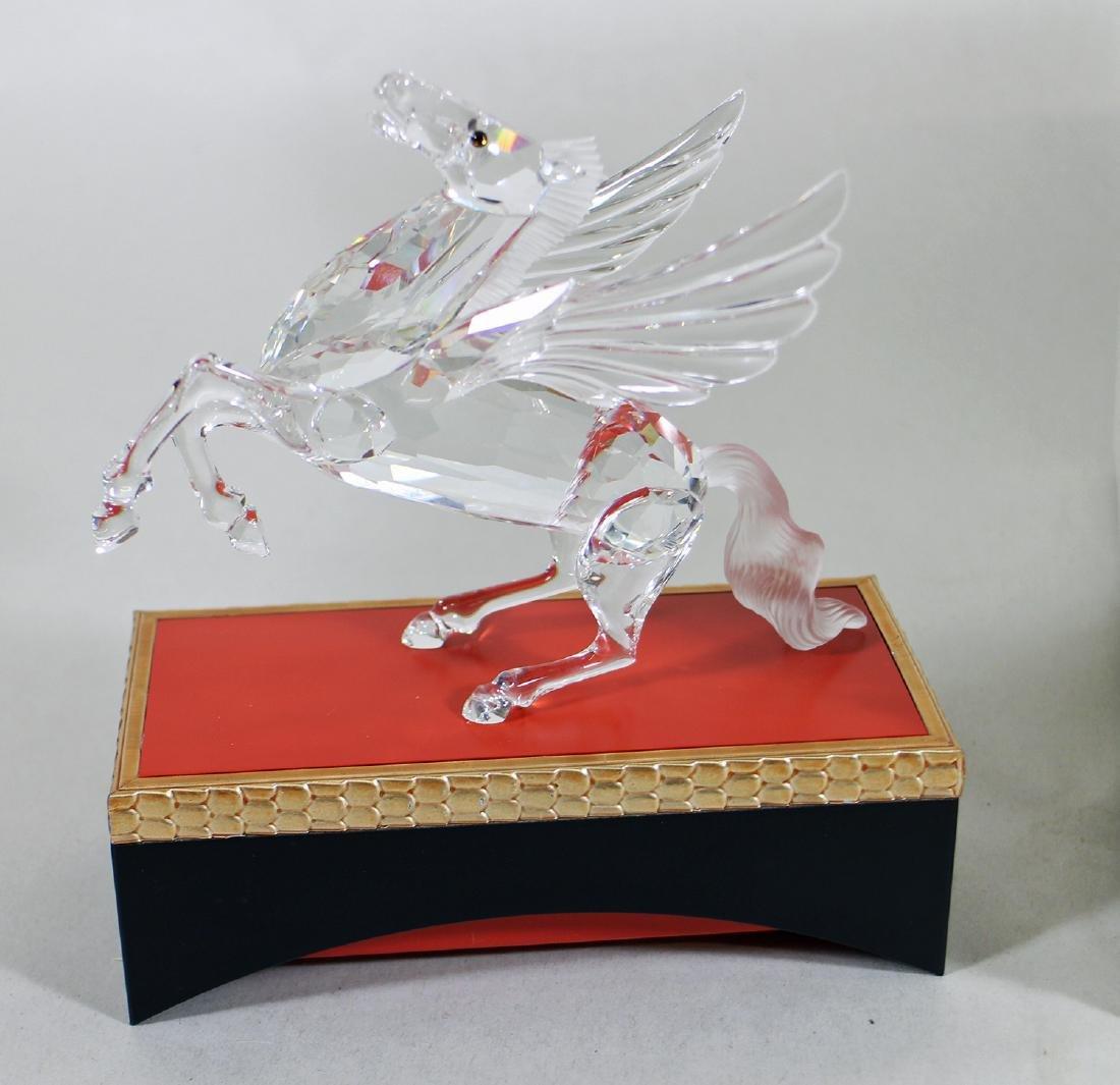 SWAROVSKI CRYSTAL PEGASUS FIGURINE W/ BOX & STAND - 2