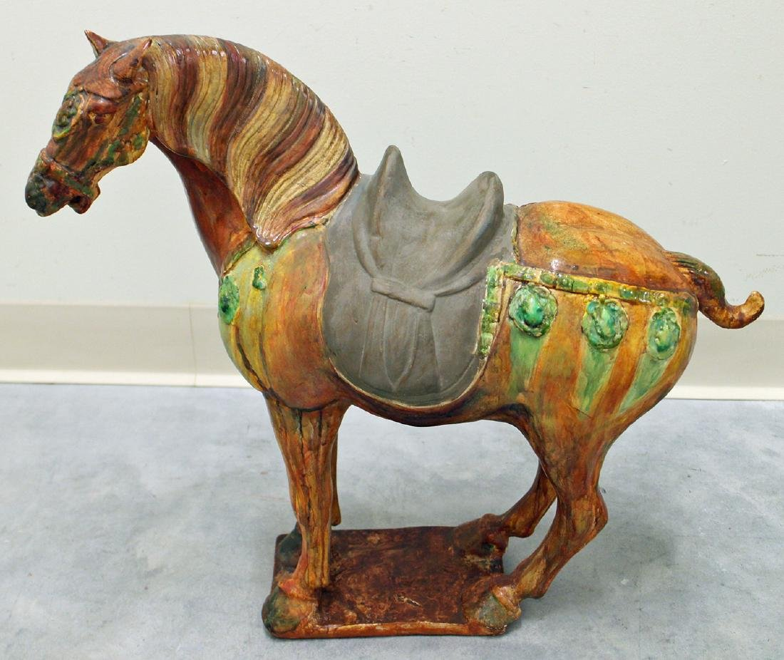 """20"""" CHINESE TANG DYNASTY STYLE CERAMIC HORSE - 2"""