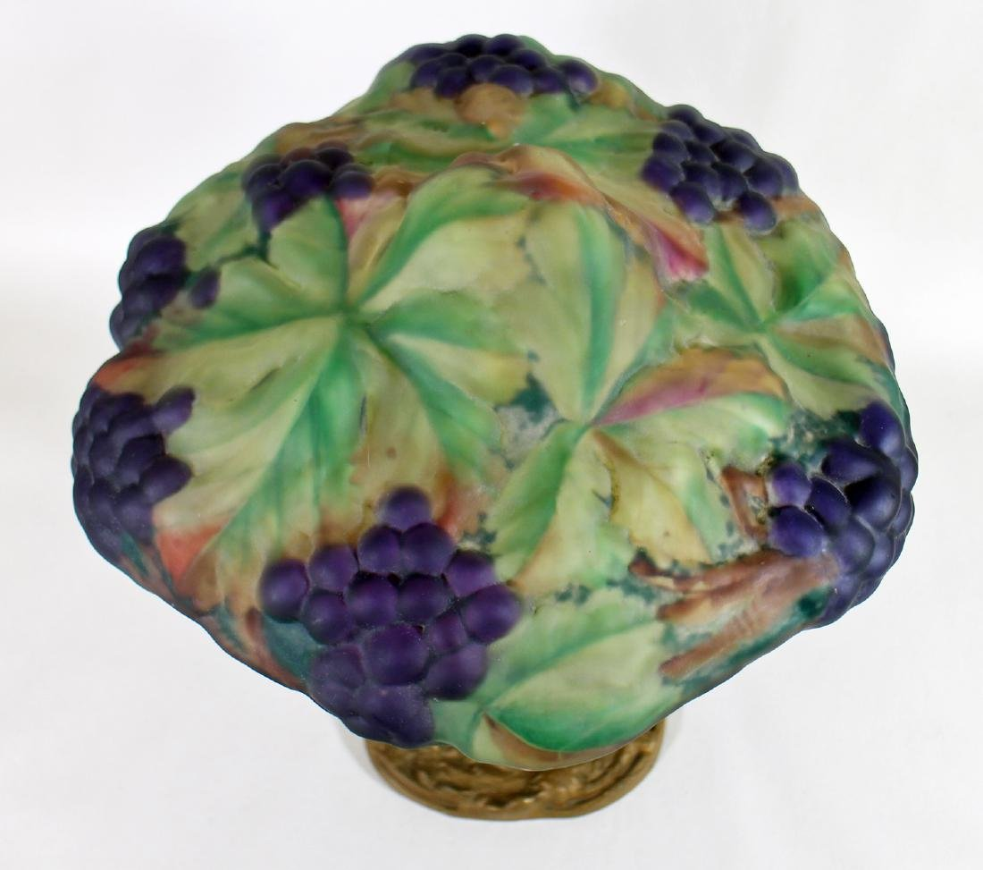 ANTIQUE PAIRPOINT PUFFY GRAPE LAMP - 3