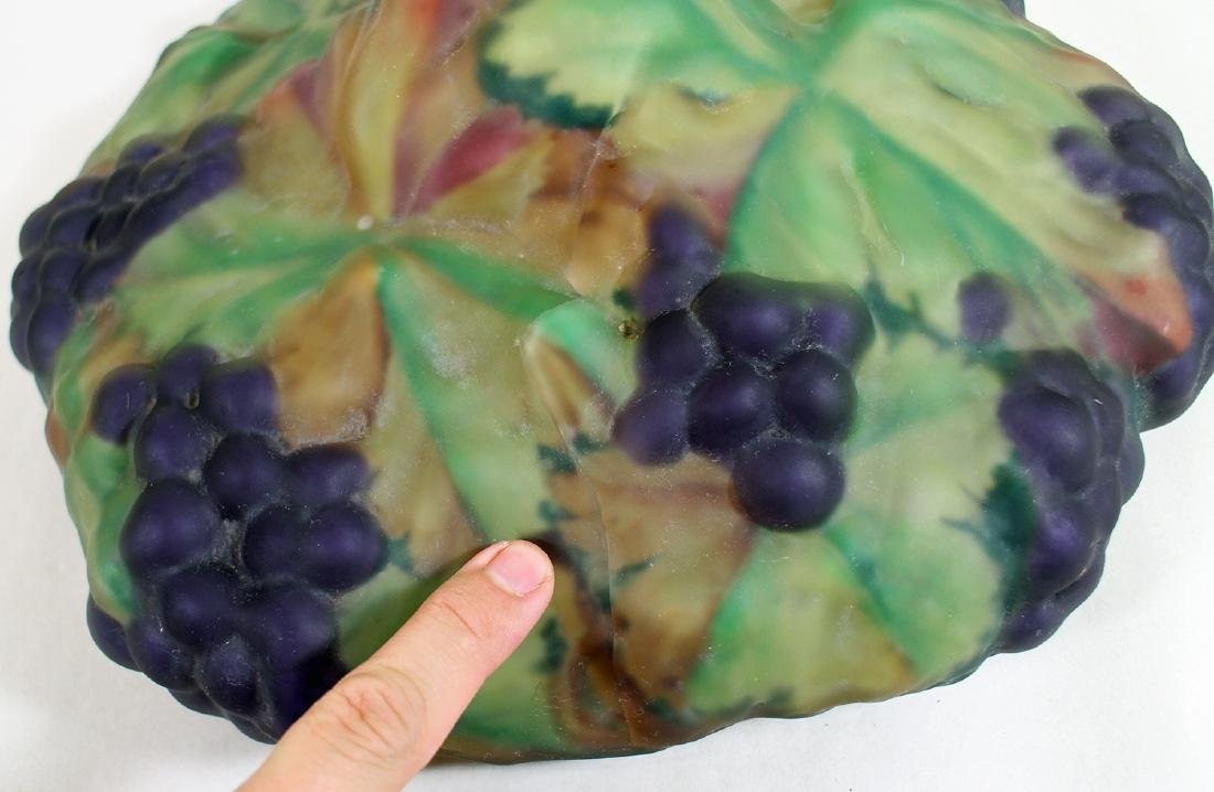 ANTIQUE PAIRPOINT PUFFY GRAPE LAMP - 4