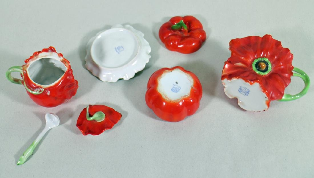 ROYAL BAYREUTH RED POPPY TOMATO COLLECTION - 3
