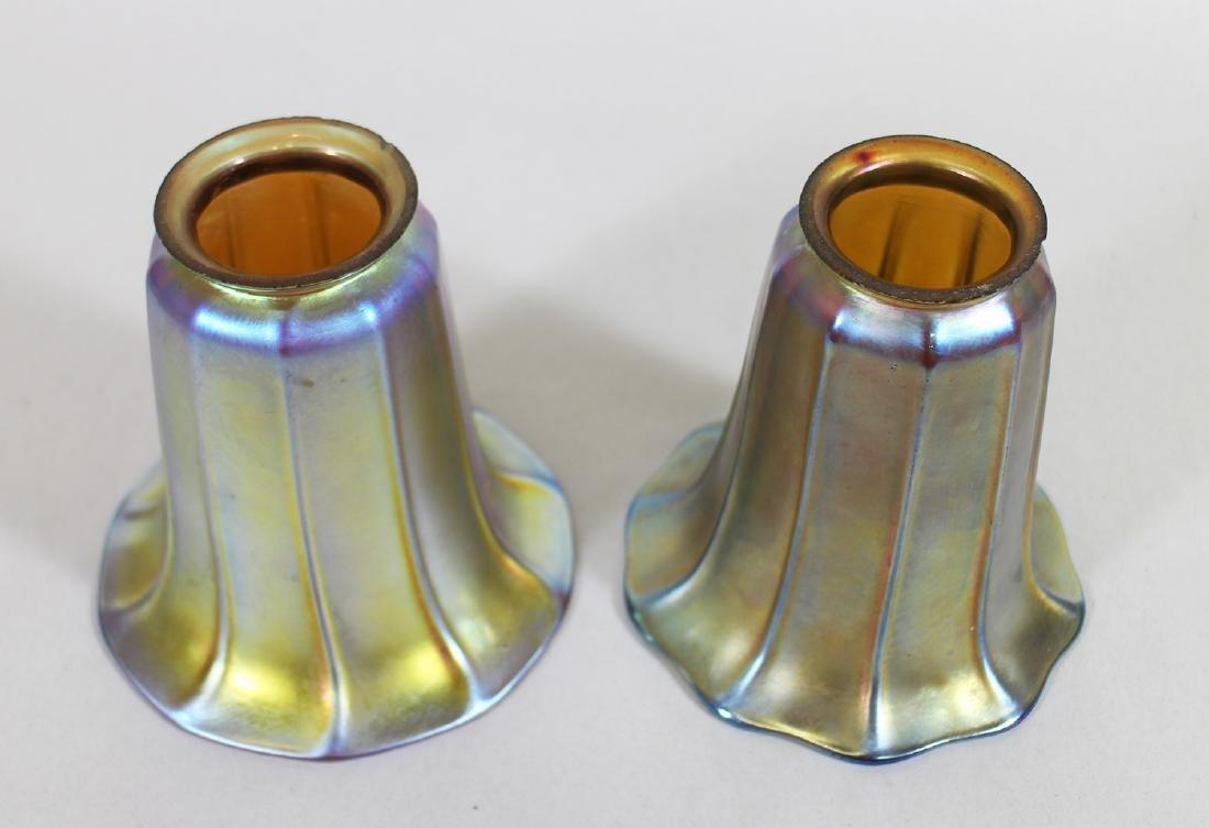 (2) ATTB. STEUBEN FAVRILE GLASS LAMP SHADES - 2
