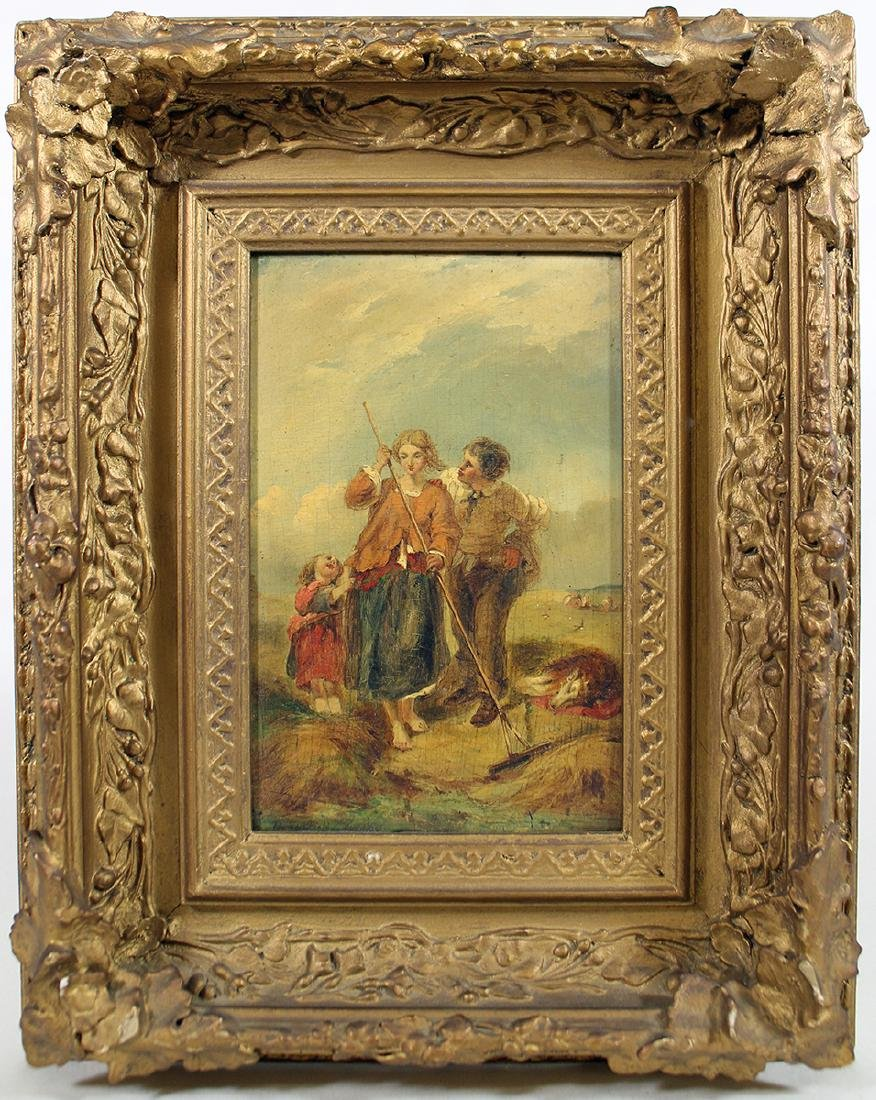 """STYLE OF WILLIAM SHAYER PAINTING """"THE HAYFIELD"""""""