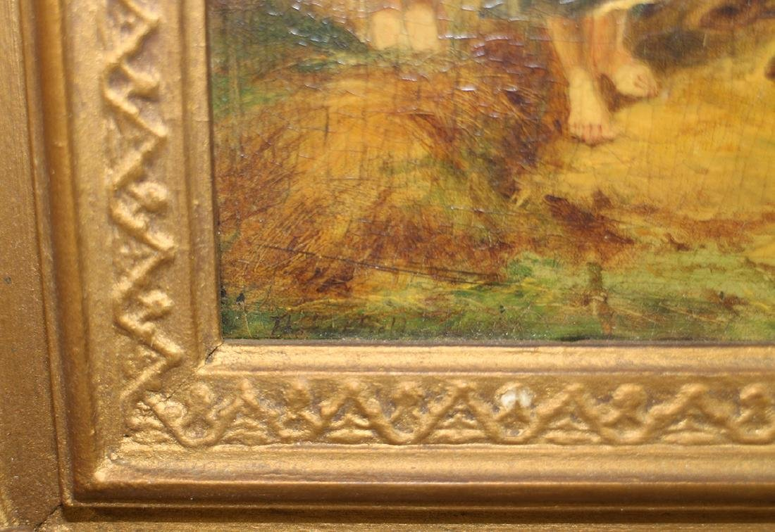 """STYLE OF WILLIAM SHAYER PAINTING """"THE HAYFIELD"""" - 2"""