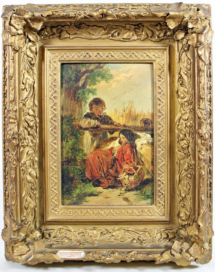 "STYLE OF WILLIAM SHAYER PAINTING ""FIRST LOVE"""