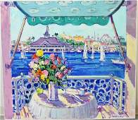 VINCENT FARRELL BALCONY VIEW PAINTING