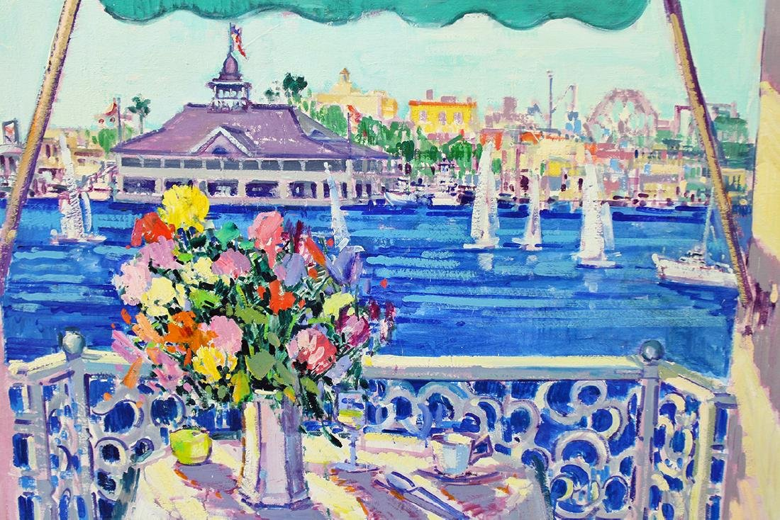 VINCENT FARRELL BALCONY VIEW PAINTING - 2