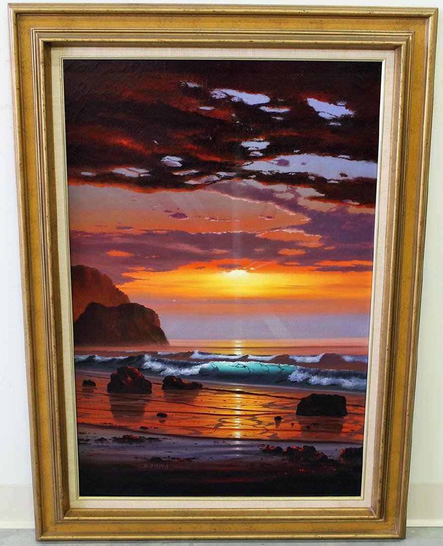 """BOB TAPIA """"A RED PACIFIC"""" PAINTING - 2"""