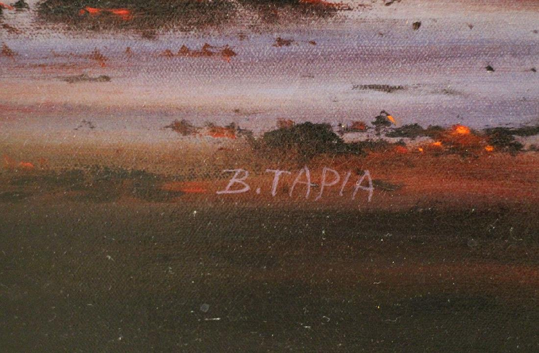 """BOB TAPIA """"A RED PACIFIC"""" PAINTING - 3"""