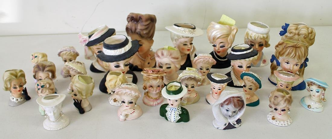(30) ASSORTED NAPCO & INARCO LADY HEAD VASES