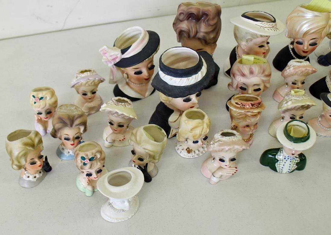 (30) ASSORTED NAPCO & INARCO LADY HEAD VASES - 2
