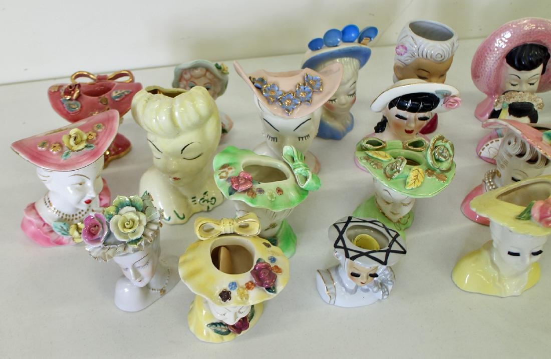 (23) EXOTIC LADY HEAD VASES - 2