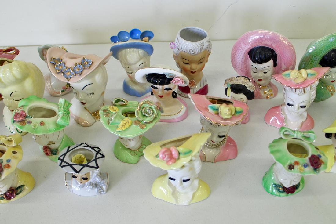(23) EXOTIC LADY HEAD VASES - 3
