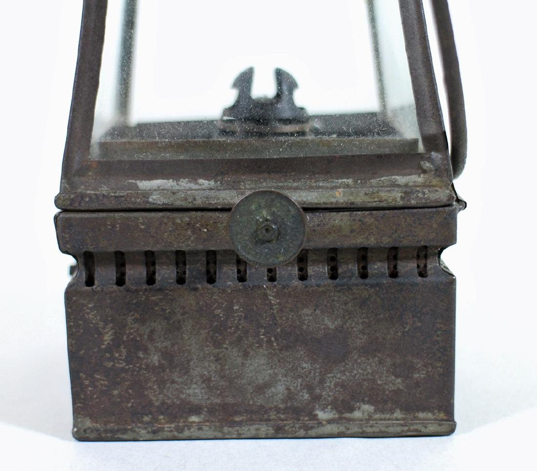 19TH CENTURY PIERCED TIN PARADE LANTERN - 2