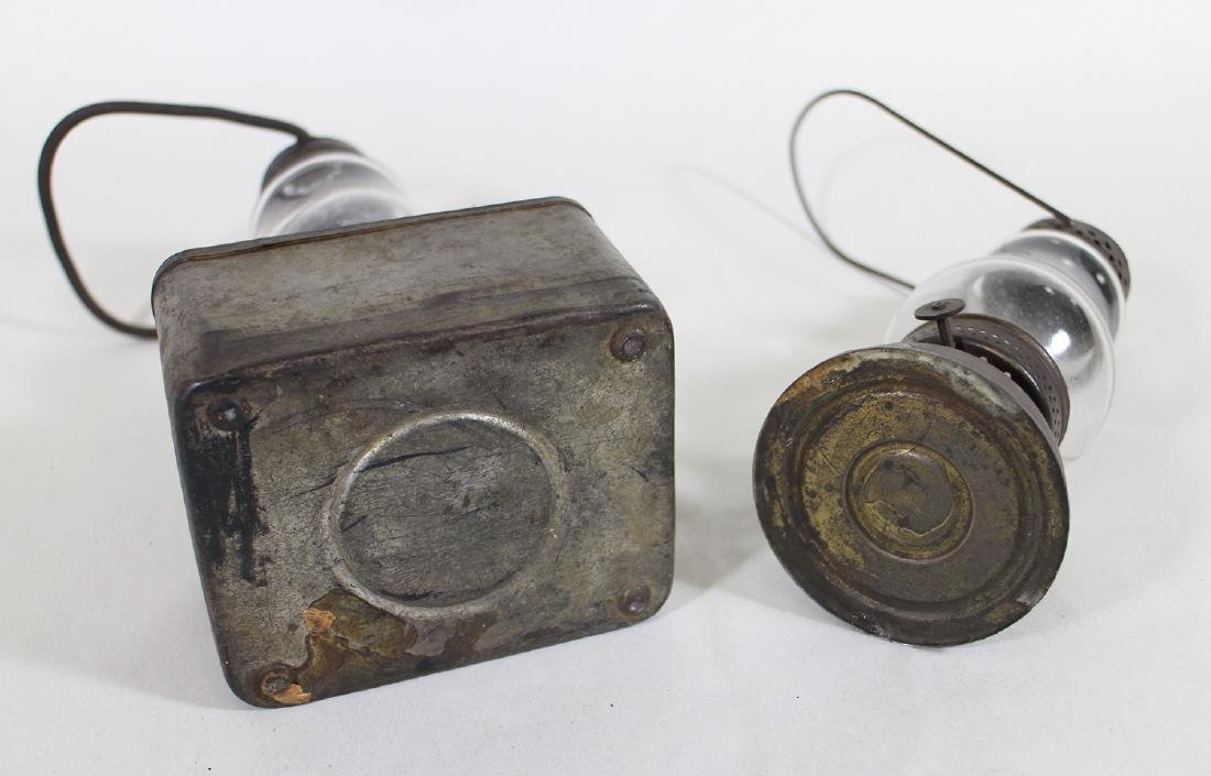 (2) ANTIQUE PUNCHED TIN WHALE OIL PARADE LANTERNS - 4
