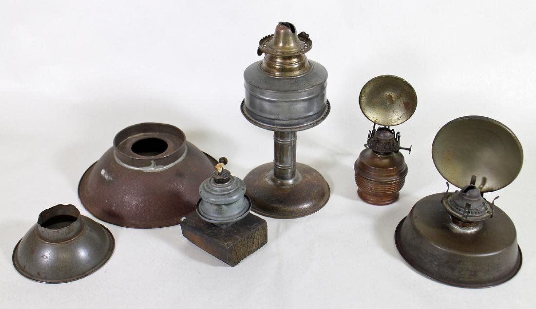 19th CENTURY OIL LANTERNS WITH REFLECTORS