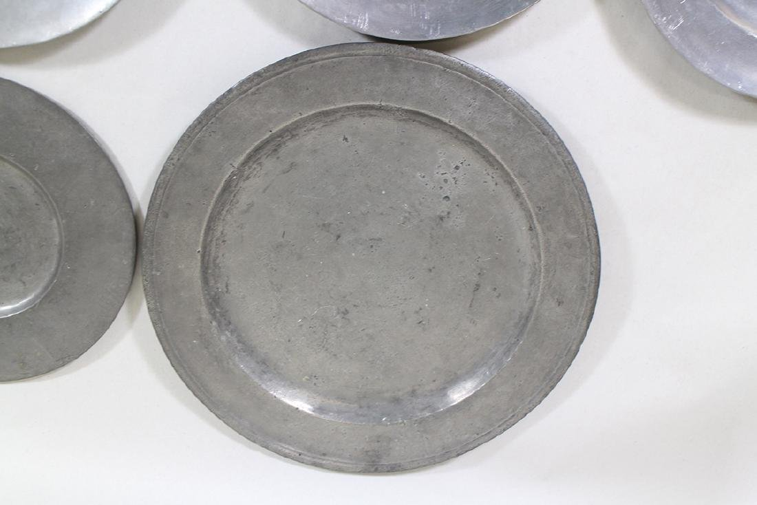 17th/18th CENTURY PEWTER PLATES & CHARGER - 2