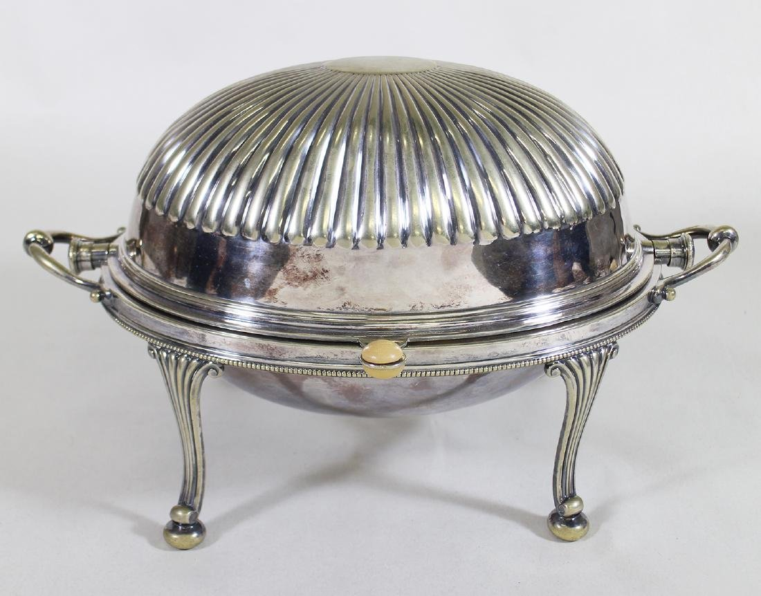 ANTIQUE SILVERPLATE CHAFING DISH