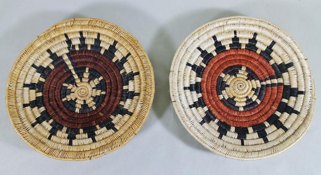 (2) NATIVE AMERICAN WOVEN CHARGERS