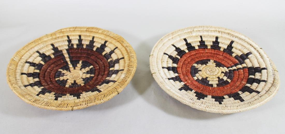 (2) NATIVE AMERICAN WOVEN CHARGERS - 2