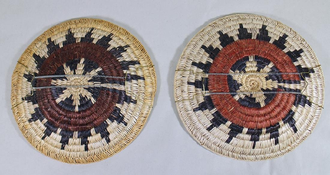 (2) NATIVE AMERICAN WOVEN CHARGERS - 3