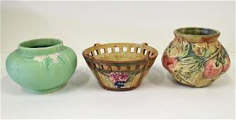 3 PIECES WELLER POTTERY