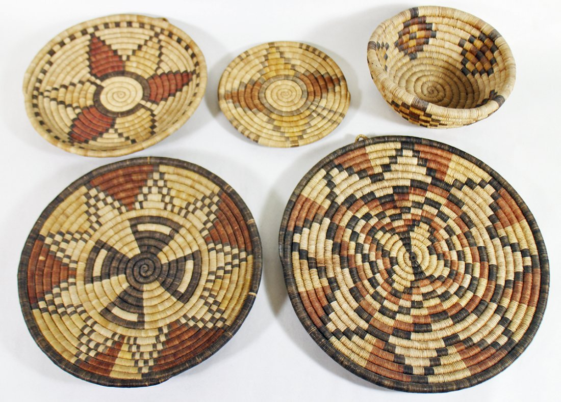 HOPI WOVEN BASKETS & CHARGERS