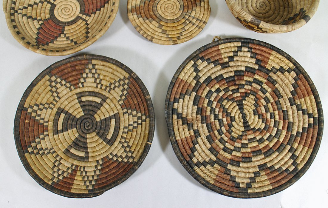 HOPI WOVEN BASKETS & CHARGERS - 2
