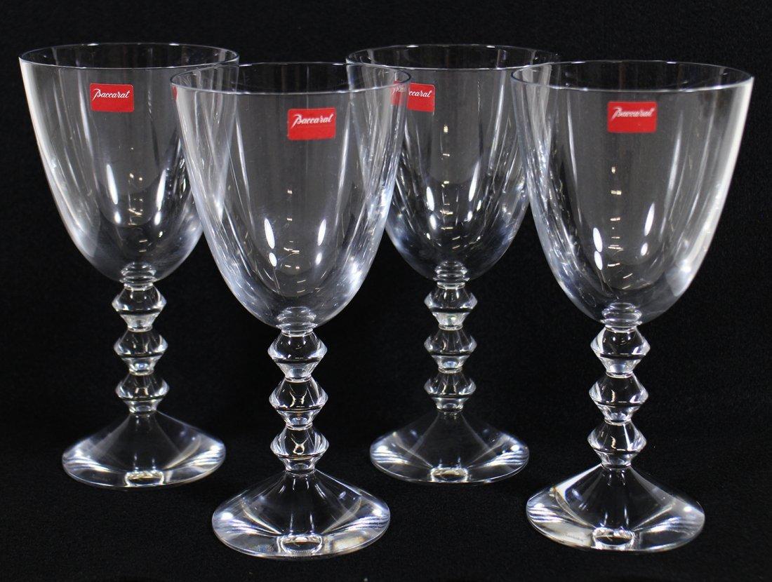 (4) BACCARAT CRYSTAL VEGA GLASSES