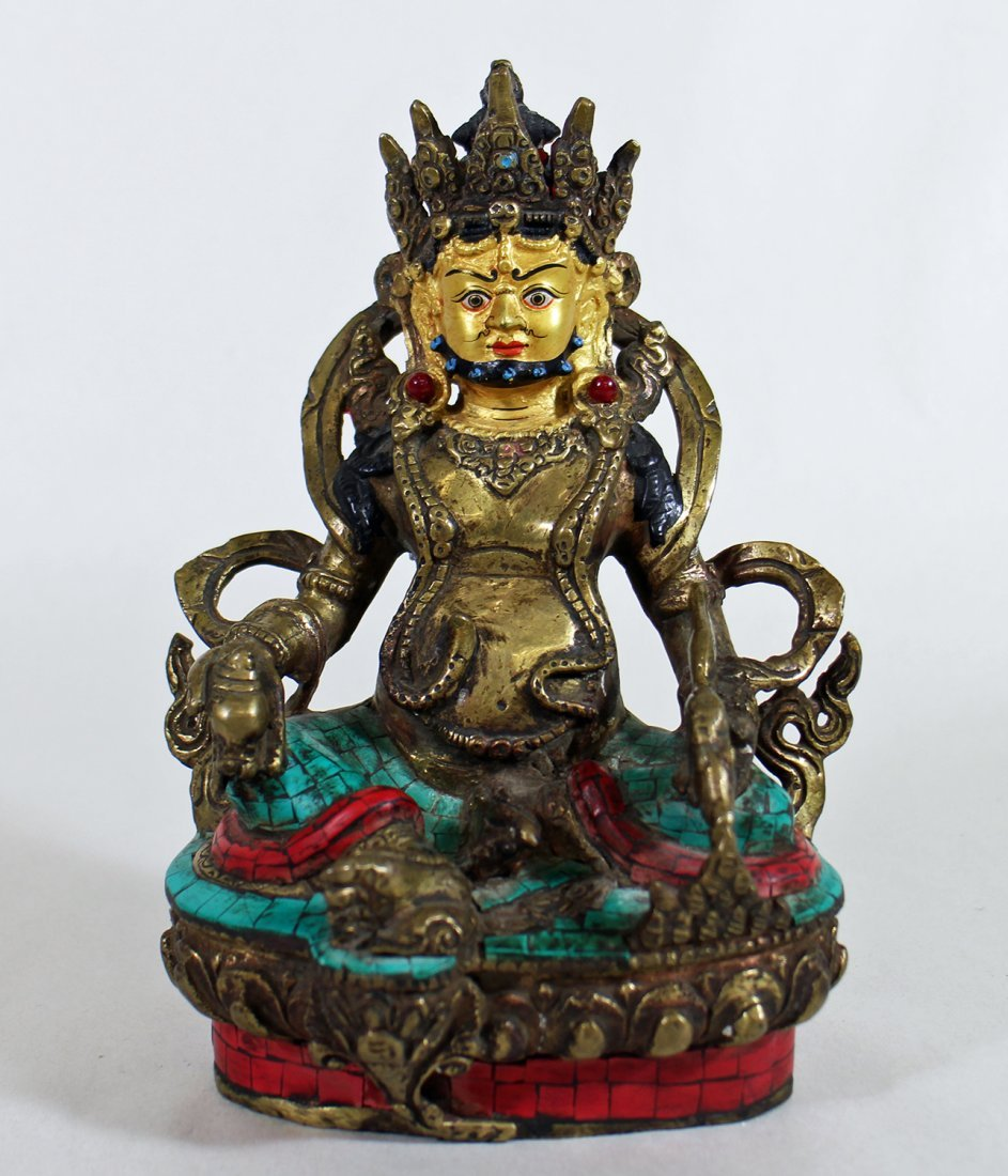 POLYCHROME METAL BUDDHA