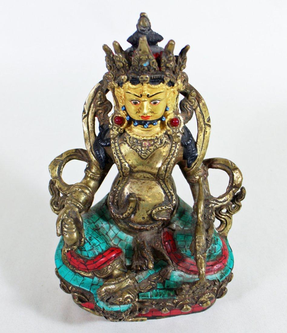 POLYCHROME METAL BUDDHA - 2