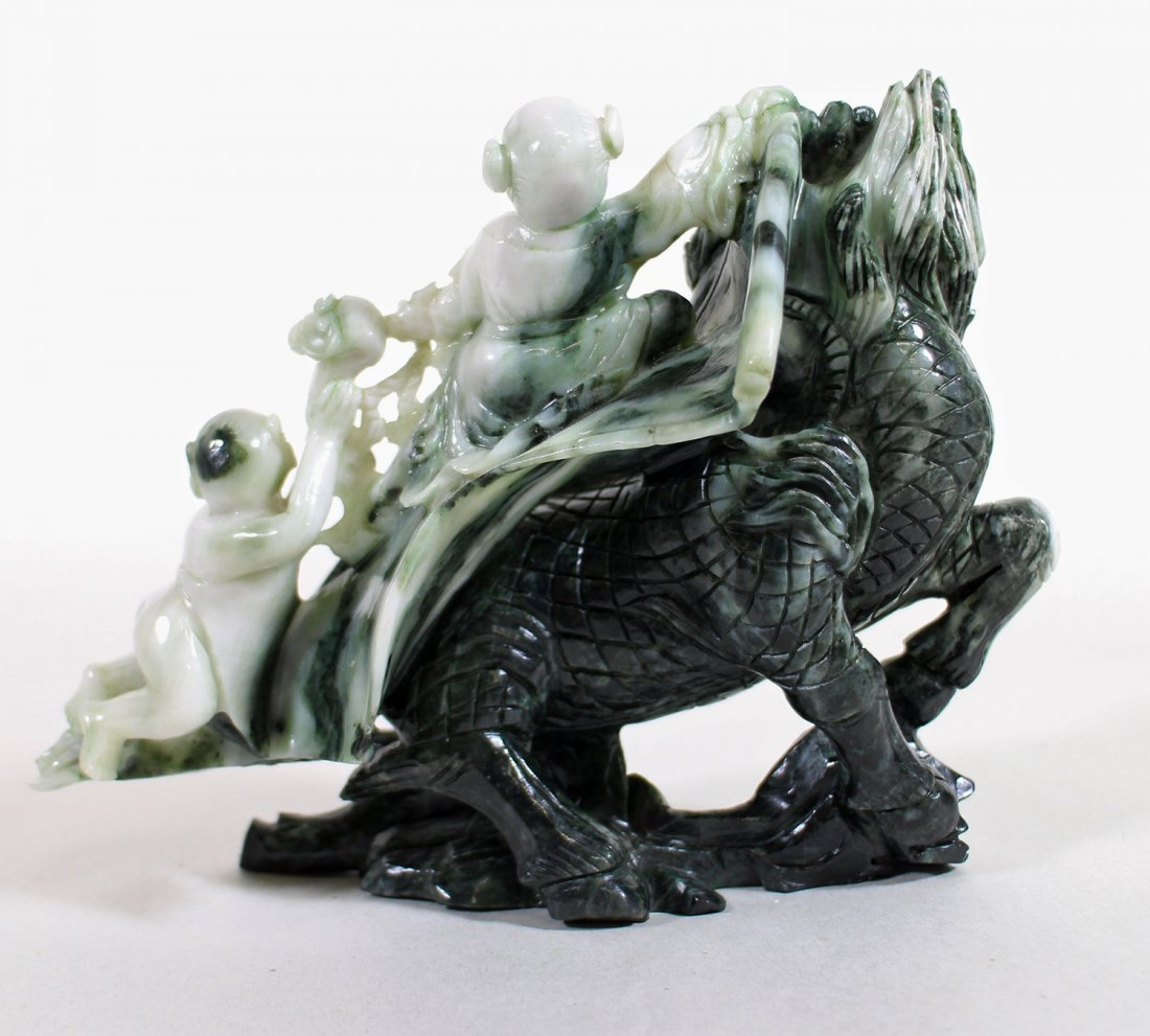 CHINESE TWO TONE JADE SCULPTURE - 4