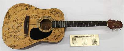 2012 COUNTRY MUSIC AWARDS AUTOGRAPHED GUITAR