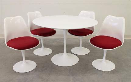 KNOLL MID CENTURY TULIP TABLE & CHAIRS