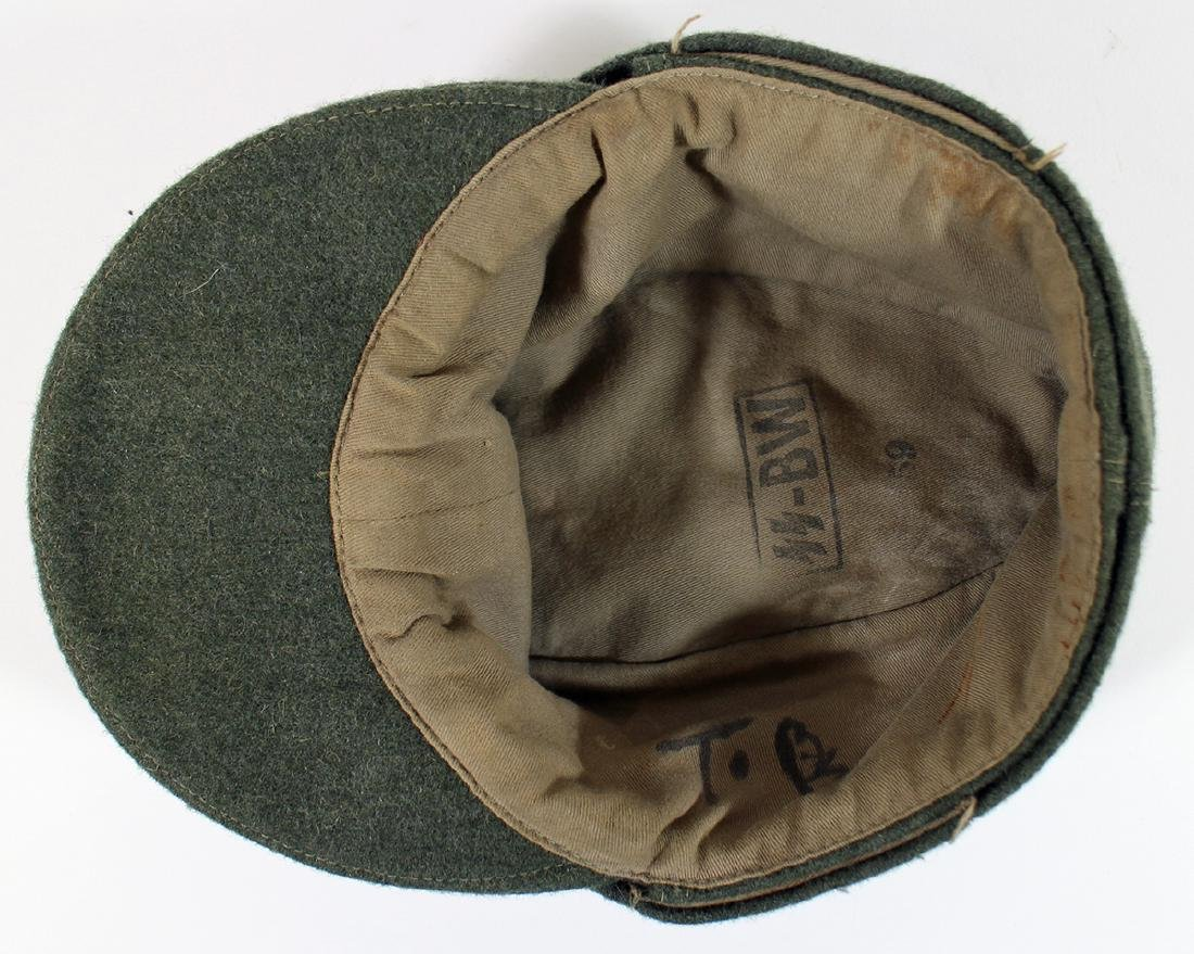 WWII GERMAN NAZI FIELD CAP - 4
