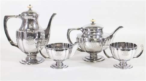 KALO HAND WROUGHT ARTS & CRAFTS STERLING TEA SET