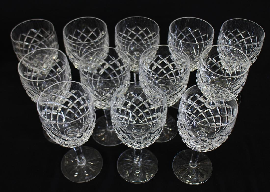 """(12) WATERFORD CRYSTAL COMERAGH 7"""" WATER GLASSES - 2"""