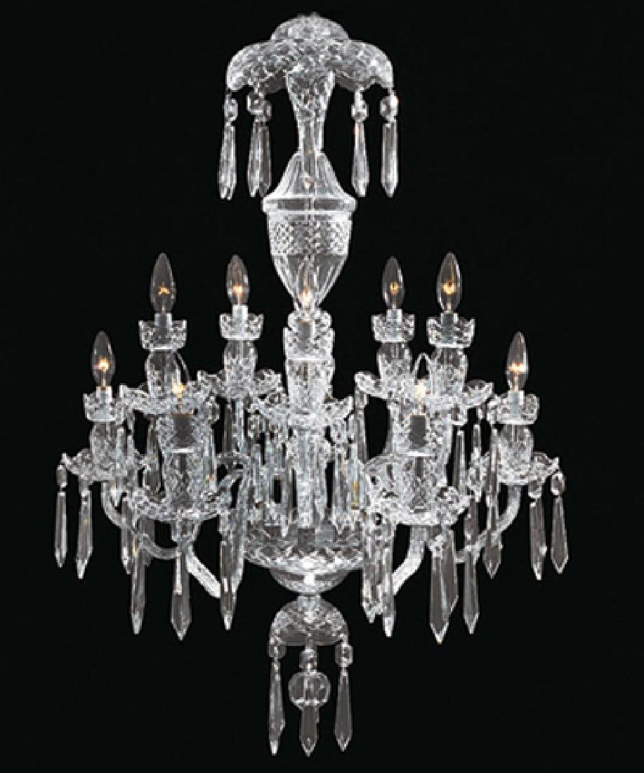 WATERFORD CRYSTAL 10 ARM CHANDELIER