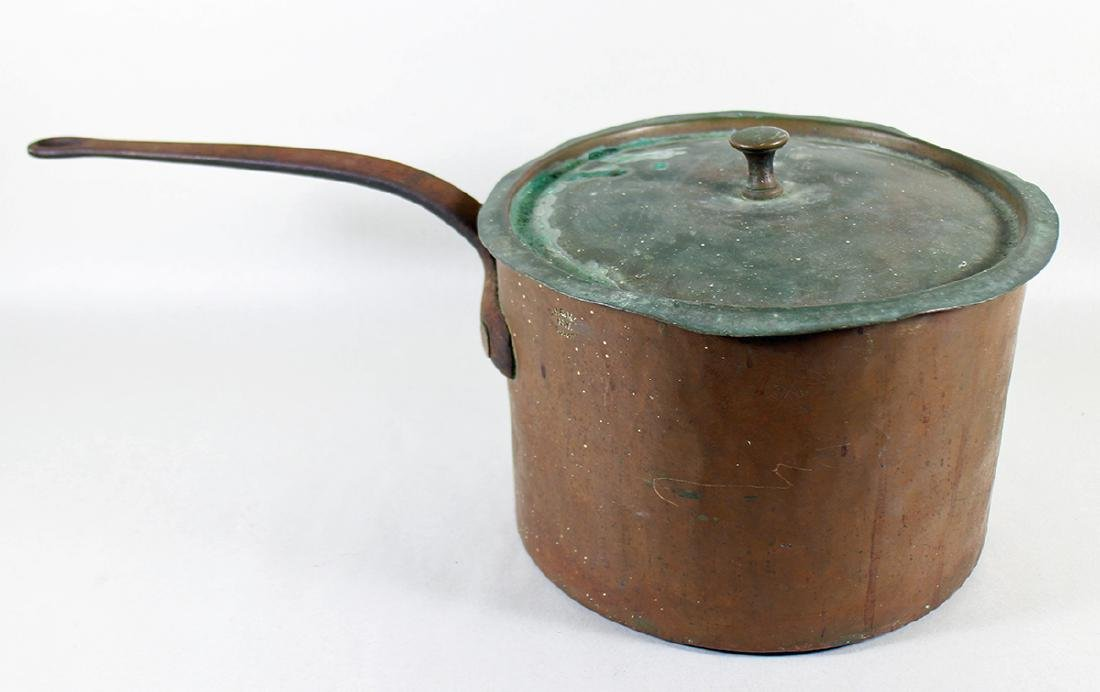 19TH CENTURY COPPER POT DH & M CO.