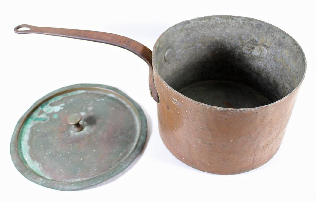 19TH CENTURY COPPER POT DH & M CO. - 2