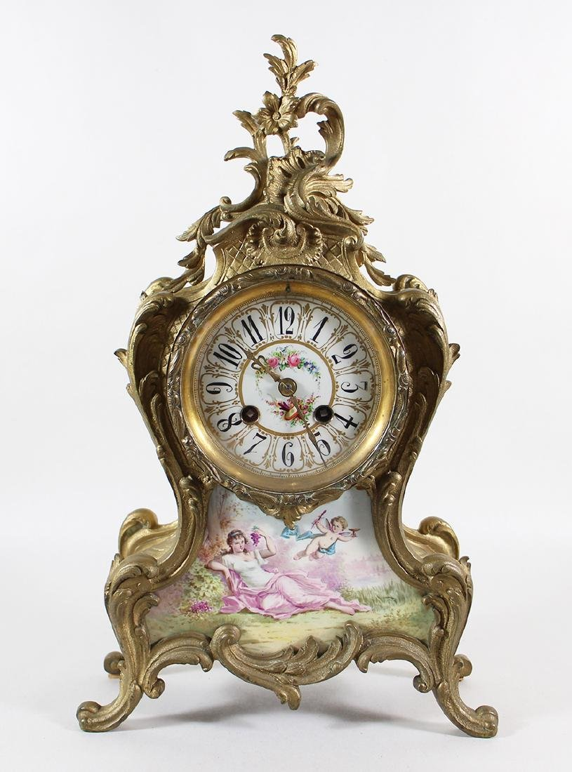 19th CENTURY FRENCH GILT BRONZE MARTI MANTLE CLOCK