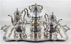 7 PIECE GORHAM STERLING TEA & COFFEE SET