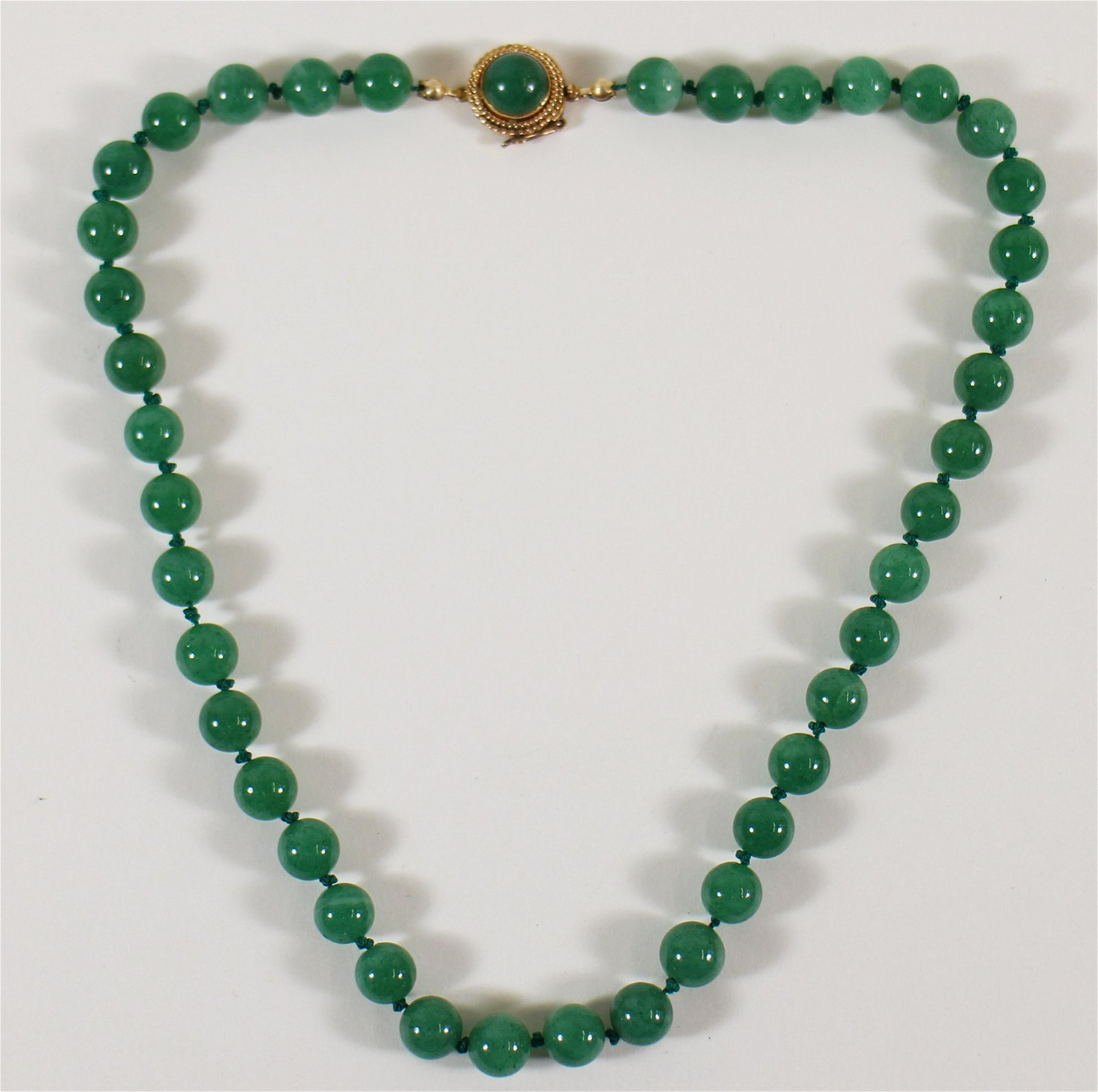 14K & CHINESE JADE NECKLACE