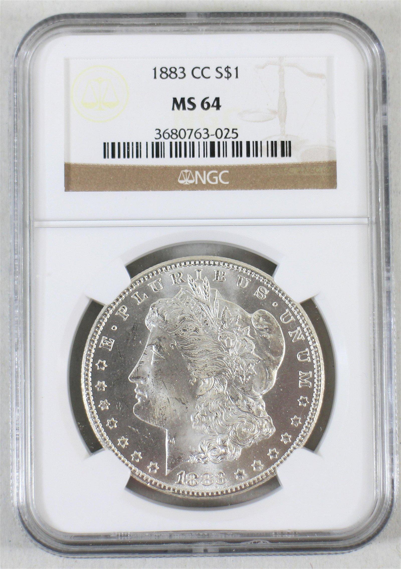 MS64 1883 CARSON CITY MORGAN DOLLAR