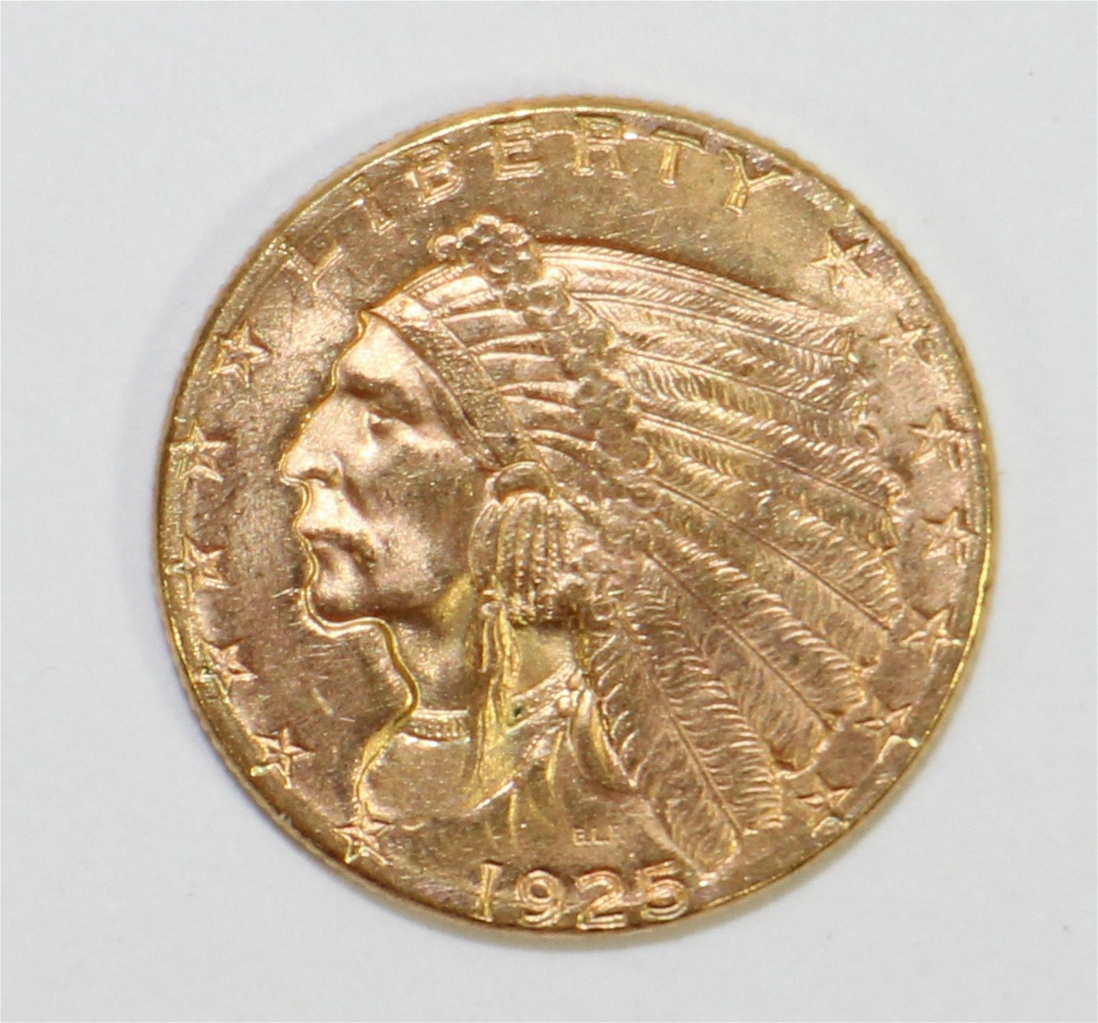 1925D $2.50 INDIAN GOLD COIN