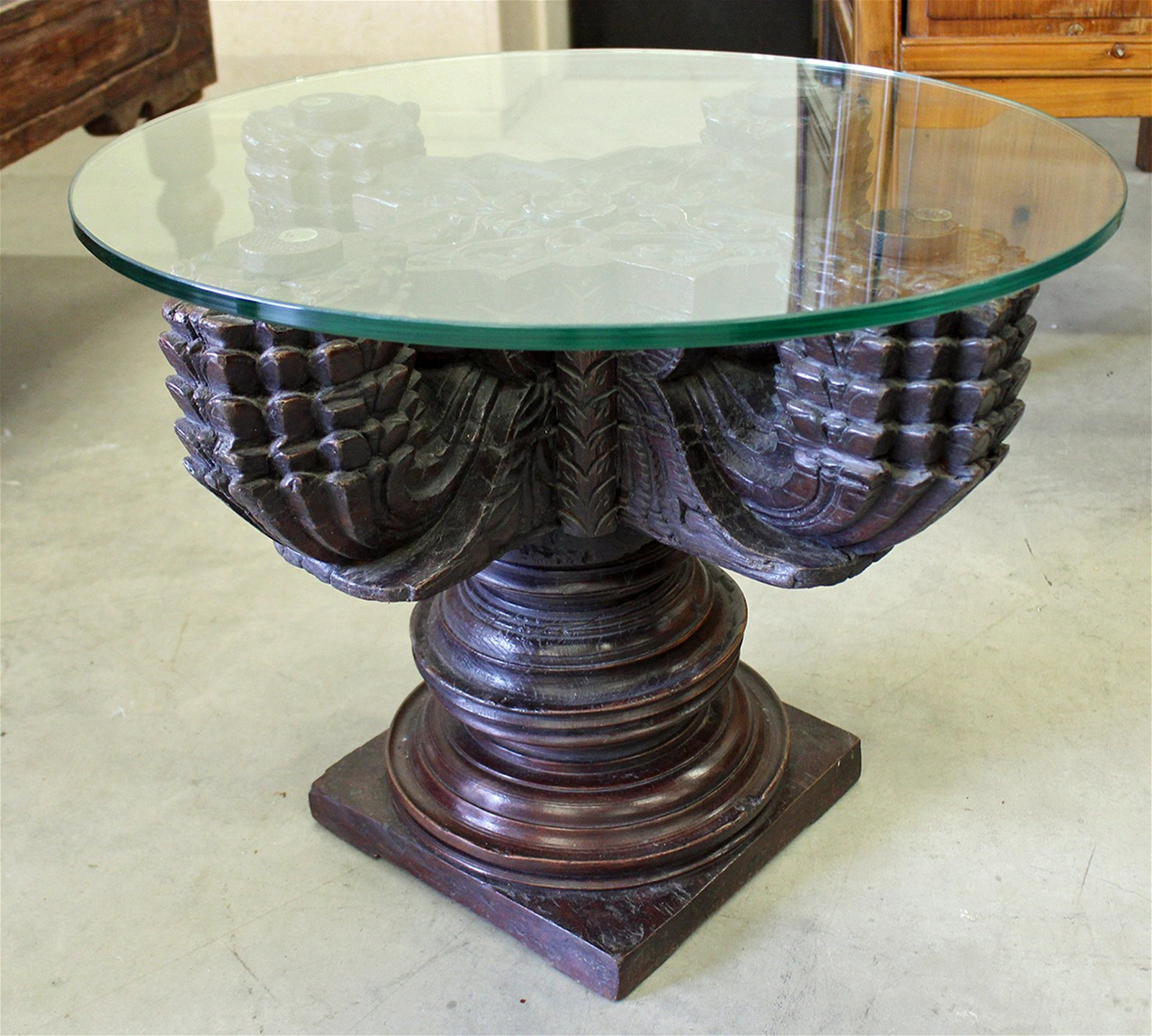 GOTHIC STYLE WOOD TABLE
