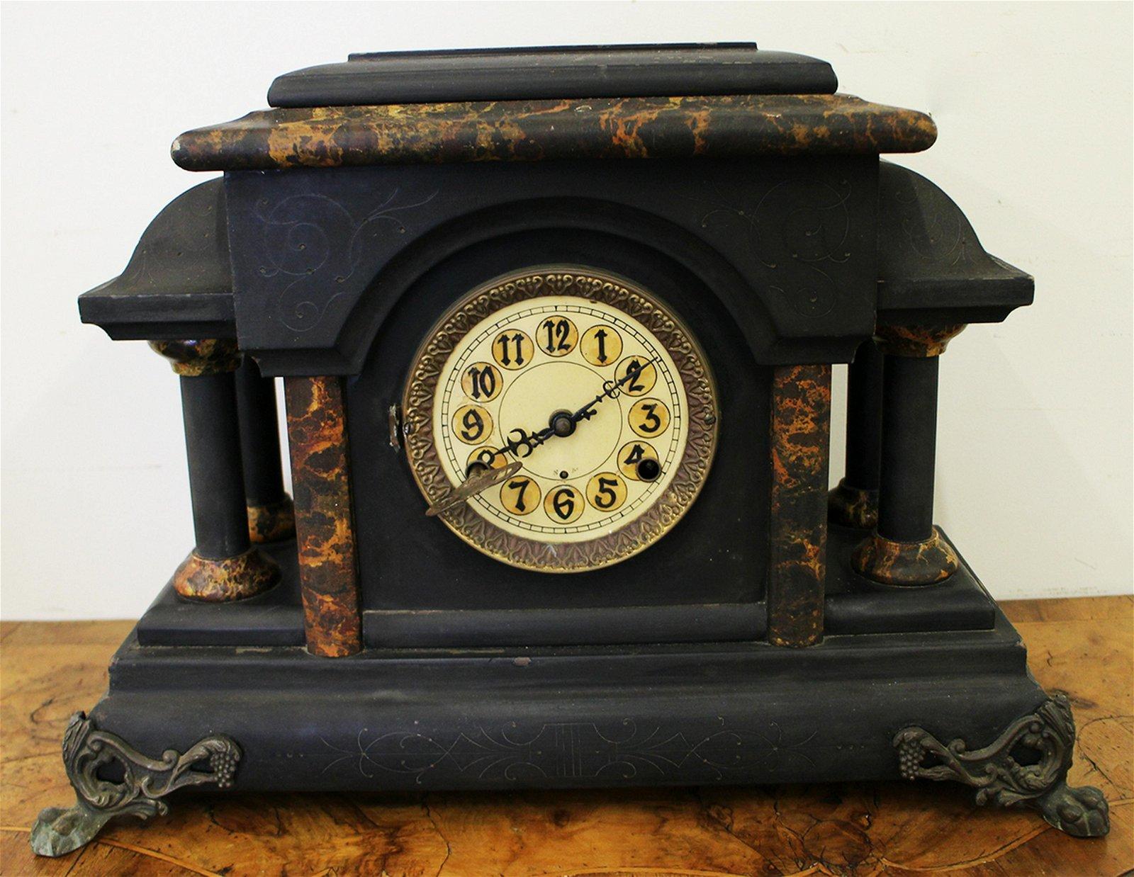 ANTIQUE MANTLE CLOCK - JEROME & CO.