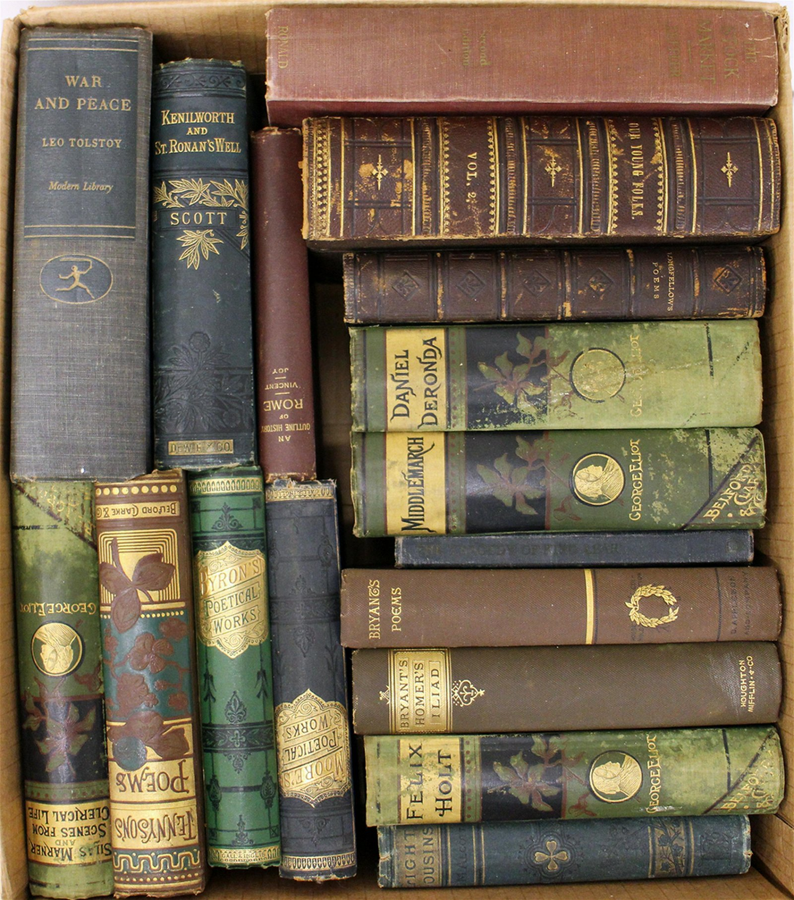 ANTIQUE 1800's CLASSIC BOOK COLLECTION
