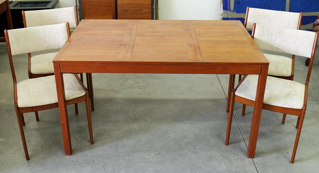 VEJLE DANISH TEAK TABLE AND 4 CHAIRS