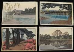 (4) HIROSHI YOSHIDA JAPANESE WOODBLOCKS